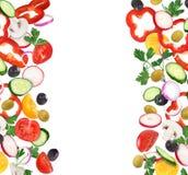 Комплект кусков свежего овоща Стоковые Фото