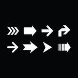 Комплект клавиш правой стрелки на черной предпосылке Стоковые Изображения