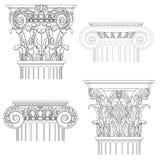 Комплект классицистических столбцов Стоковые Фотографии RF
