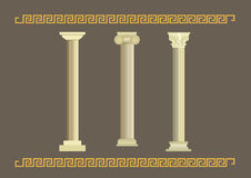 Комплект классических старых столбцов Стоковое фото RF