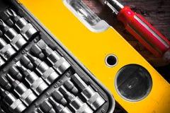 Комплект ключа ванадия хрома, инструмент, деталь Стоковое фото RF