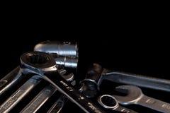 Комплект ключей, селективный фокус, добровольная нерезкость Стоковые Фотографии RF