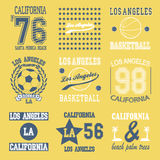 Комплект Лос-Анджелеса иллюстрация вектора