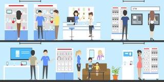 Комплект магазина телефона бесплатная иллюстрация