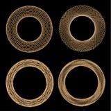 Комплект мандал Орнамент, круговая геометрическая картина, spirogram Стоковое Фото