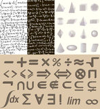 Комплект математики Стоковые Изображения