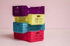 Комплект малых пластичных коробок Стоковая Фотография RF