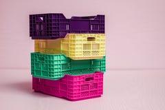 Комплект малых пластичных коробок Стоковые Изображения RF