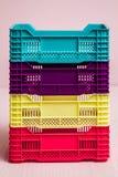 Комплект малых пластичных коробок Стоковые Фото