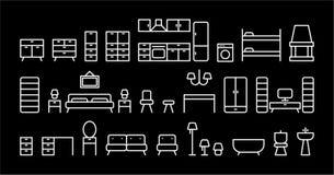Комплект мебели Стоковые Фотографии RF