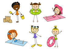 Комплект меньших девушек лета Стоковая Фотография RF