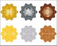 Комплект медалей спорта Стоковая Фотография