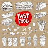 Комплект мела цвета нарисованный на еде классн классного, специях иллюстрация штока