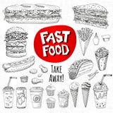 Комплект мела цвета нарисованный на еде классн классного иллюстрация вектора