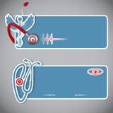 Комплект медицинских знамен или заголовков вебсайта Стоковое Изображение