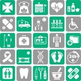 Комплект медицинских значков Стоковое Изображение