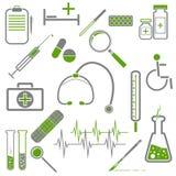 Комплект медицинских значков Стоковая Фотография RF