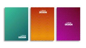 Комплект минимального шаблона дизайна крышек Фон книги или рогульки геометрический Светлая картина для фирменного стиля Стоковое Изображение