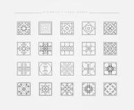 Комплект минимальных геометрических форм Стоковые Изображения