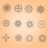 Комплект минимальных круглых картин Стоковая Фотография