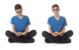 Комплект милого мальчика подростка над белизной изолировал предпосылку Стоковая Фотография RF