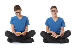 Комплект милого мальчика подростка над белизной изолировал предпосылку Стоковые Изображения RF