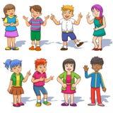 Комплект милых детей шаржа. бесплатная иллюстрация