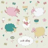 Комплект милых овец Стоковые Фотографии RF