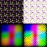 Комплект мозаики плиток абстрактной радуги красочной иллюстрация вектора