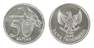 Комплект монетки индонезийской рупии Стоковое Изображение