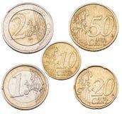 Комплект монеток евро Стоковое Фото