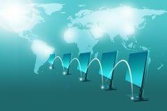 Комплект мониторов с светловинами Стоковая Фотография