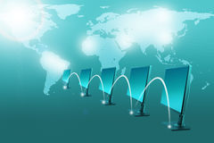 Комплект мониторов с светловинами Стоковые Фотографии RF