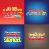 Комплект мотивационных цитат бесплатная иллюстрация