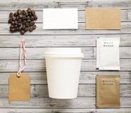 Комплект модель-макета идентичности кофе Стоковое Изображение RF