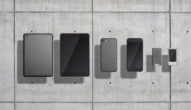 Комплект модель-макета Smartphones и таблеток Стоковые Изображения RF