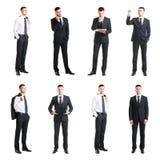 Комплект молодого бизнесмена изолированного на белизне Стоковое Изображение