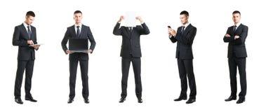 Комплект молодого и красивого бизнесмена изолированного на белизне Стоковое Изображение RF