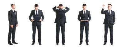 Комплект молодого и красивого бизнесмена изолированного на белизне Стоковые Изображения RF