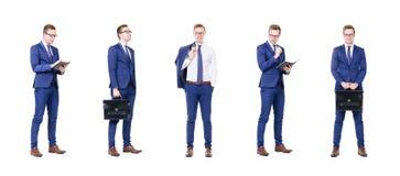 Комплект молодого и красивого бизнесмена изолированного на белизне Стоковая Фотография RF