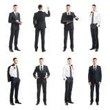 Комплект молодого и красивого бизнесмена изолированного на белизне Дело, карьера, работа, концепция Стоковое Фото