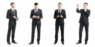 Комплект молодого и красивого бизнесмена изолированного на белизне Стоковые Фотографии RF