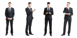 Комплект молодого красивого бизнесмена изолированного на белизне Стоковое Фото