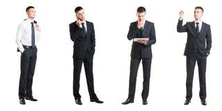 Комплект молодого красивого бизнесмена изолированного на белизне Стоковые Изображения RF