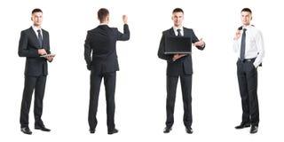 Комплект молодого красивого бизнесмена изолированного на белизне Стоковое фото RF