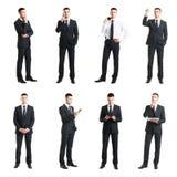 Комплект молодого красивого бизнесмена изолированного на белизне Стоковые Изображения