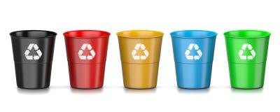 Комплект мусорной корзины бесплатная иллюстрация