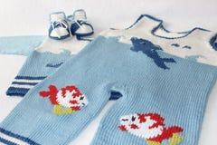 Комплект младенца Knit Стоковое фото RF