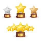 Комплект награды звезды вектор Стоковые Изображения RF