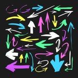 Комплект нарисованного рукой объекта краски для пользы дизайна Абстрактный чертеж щетки Стоковое Изображение